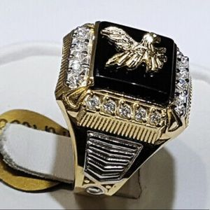 Eagle Two Tone 925 Silver Rings for Men